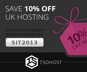 Need somewhere to host your SiT! installation? We've teamed up with our hosts 'Tsohost' to offer you the same unbeatable service they provide us for sitracker.org with 10% off! Use the promo code 'SIT2013' when you order.